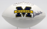 Bo Schembechler Signed University of Michigan Wolverines Logo Football (JSA LOA) at PristineAuction.com