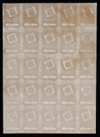 Lot of (25) 1 Gram Silver Valcambi Mint Bullion Bars (Uncut) at PristineAuction.com