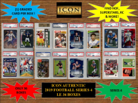 ICON AUTHENTIC  2019 FOOTBALL MYSTERY BOX SERIES - 4 at PristineAuction.com