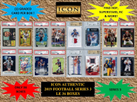 ICON AUTHENTIC  2019 FOOTBALL MYSTERY BOX SERIES - 3 at PristineAuction.com