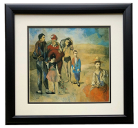 "Pablo Picasso ""Family Of Saltimbanques"" 18x20 Custom Framed Photo Print at PristineAuction.com"