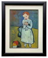 "Pablo Picasso ""Child Holding A Dove"" 18x20 Custom Framed Photo Print at PristineAuction.com"