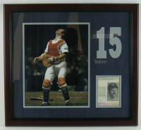 """Thurman Munson Signed New York Yankees 20x22 Custom Framed Cut Display Inscribed """"Best Wishes"""" (JSA LOA) at PristineAuction.com"""