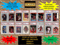 ICON AUTHENTIC  100% MICHAEL JORDAN MYSTERY BOX SERIES - 6  (Guaranteed Michael Jordan PSA or Beckett Graded in every box) at PristineAuction.com