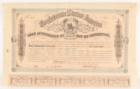 Authentic 1864 Confederate States of America $1000 One Thousand Dollar Bank Loan Note at PristineAuction.com