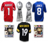 Football TOUCHDOWN Collection Mystery Box - Series 2 (Limited to 100) (6+ Autograph Items per Box) at PristineAuction.com