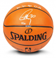 "Stephen Curry Signed LE Official NBA Game Ball Basketball Inscribed ""50-40-90 Club"" (UDA COA) at PristineAuction.com"