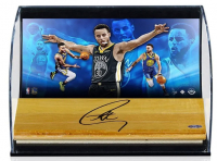 Stephen Curry Signed Golden State Warriors 5x7x11 LE Custom Framed Shadowbox Game-Used Floor Piece Display (UDA COA) at PristineAuction.com