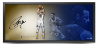 Stephen Curry Signed Golden State Warriors 20x46 Custom Framed Photo (UDA COA) at PristineAuction.com