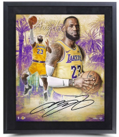 "LeBron James Signed Los Angeles Lakers ""City of Angels"" 20x24 Custom Framed LE Photo (UDA COA) at PristineAuction.com"