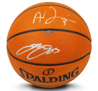 LeBron James & Anthony Davis Signed Official NBA Game Ball Basketball (UDA COA) at PristineAuction.com