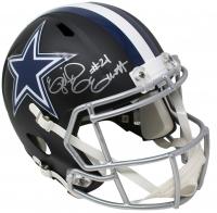 Ezekiel Elliott Signed Dallas Cowboys Full-Size Matte Black Speed Helmet (Beckett COA) at PristineAuction.com