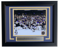 Blues 2019 Stanley Cup Championship 11x14 Custom Framed Photo Display at PristineAuction.com
