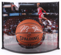 Michael Jordan Signed Official Game Ball Basketball with Display Case (UDA COA) at PristineAuction.com