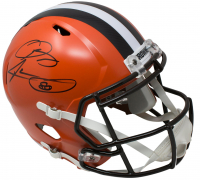 Odell Beckham Jr. & Jarvis Landry Signed Cleveland Browns Full-Size Speed Helmet (JSA COA) at PristineAuction.com