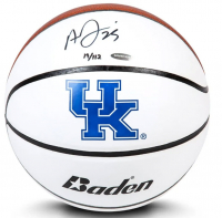Anthony Davis Signed LE Kentucky Wildcats Logo Basketball (UDA COA) at PristineAuction.com