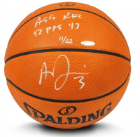 "Anthony Davis Signed LE Official NBA Game Ball Basketball Inscribed ""ASG Rec 52 pts '17"" (UDA COA) at PristineAuction.com"