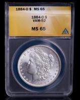 1884-O Morgan Silver Dollar, VAM-52 (ANACS MS65) at PristineAuction.com