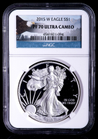 2015-W American Silver Eagle $1 One-Dollar Coin - Eagle Label (NGC PF70 Ultra Cameo) at PristineAuction.com