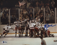 """Mike Eruzione Signed Team USA """"Miracle on Ice"""" 8x10 Photo (Beckett COA) at PristineAuction.com"""
