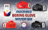 Schwartz Sports Boxing Superstar Signed & Inscribed Mystery Boxing Glove - Series 2 (Limited to 150) *Muhammad Ali Glove – Grand Prize* at PristineAuction.com