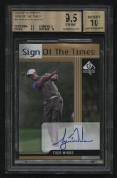Tiger Woods 2017 SP Authentic Sign of the Times Autograph #STTW (BGS 9.5) at PristineAuction.com