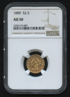 1889 $2.50 Liberty Head Quarter Eagle Gold Coin (NGC AU 50) at PristineAuction.com