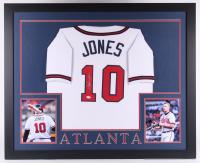 Chipper Jones Signed 35x43 Custom Framed Jersey (JSA COA) at PristineAuction.com