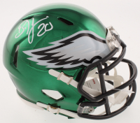 Brian Dawkins Signed Philadelphia Eagles Chrome Speed Mini Helmet (JSA COA) at PristineAuction.com