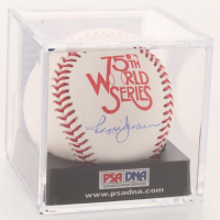 Reggie Jackson Signed 1978 World Series 75th Anniversary Baseball with Display Case (PSA COA - Graded 9) at PristineAuction.com