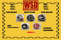 WSD Official Big Hits Box Football Full-Size Helmet Mystery Box Series 2 at PristineAuction.com