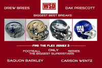 WSD Official Biggest Best Breaks Football Full-Size Helmet Mystery Box Series 3 (Find the Flex!) at PristineAuction.com