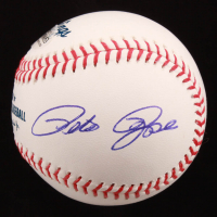 """Pete Rose Signed OML Baseball Inscribed """"Thanks Mickey Mantle For Naming Me Charlie Hustle"""" (Beckett COA) at PristineAuction.com"""