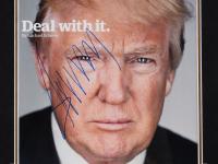Donald Trump Signed 19.5x23.5 Custom Framed Photo & Dollar Bill Display (PSA Hologram) at PristineAuction.com