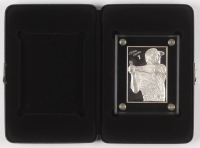 1996 Sport Strikes 6 Troy oz .999 Fine Silver LE Mickey Mantle Bullion Baseball Card with Display Case (Sport Strikes COA) at PristineAuction.com
