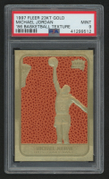 1997 Fleer 23KT Gold '86 Basketball Texture Michael Jordan (PSA 9) at PristineAuction.com