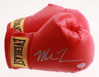 Mike Tyson Signed Pair of Everlast Boxing Gloves with Display Case (PSA COA) at PristineAuction.com