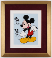 "Walt Disney's ""Mickey Mouse"" 16x18 Custom Framed Hand-Painted Animation Serigraph Display at PristineAuction.com"