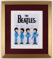 """""""The Beatles"""" 16x18 Custom Framed Animation Serigraph Display at PristineAuction.com"""