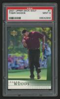 2001 Upper Deck #1 Tiger Woods RC (PSA 9) at PristineAuction.com