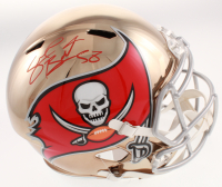 Shaquil Barrett Signed Tampa Bay Buccaneers Full-Size Chrome Speed Helmet (JSA COA) at PristineAuction.com