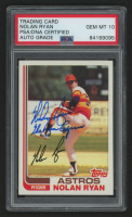 "Nolan Ryan Signed 1982 Topps #90 Inscribed ""The Ryan Express"" (PSA Encapsulated) at PristineAuction.com"