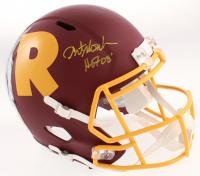 "Art Monk Signed Washington Full Size AMP Alternate Speed Helmet Inscribed ""HOF 08"" (Beckett COA) at PristineAuction.com"