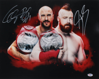Cesaro & Sheamus Signed WWE 16x20 Photo (PSA COA) at PristineAuction.com