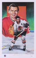 Stan Mikita Signed LE Chicago Blackhawks 12.5x19.75 Lithograph (JSA COA) at PristineAuction.com