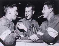 Gordie Howe, Alex Delvecchio, & Ted Lindsay Signed Detroit Red Wings 16x20 Photo (JSA COA) at PristineAuction.com
