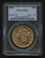 1904 $20 Liberty Head Double Eagle Gold Coin (PCGS MS63) at PristineAuction.com