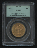 1885 $10 Liberty Head Double Eagle Gold Coin (PCGS MS60) at PristineAuction.com