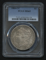 1884-CC Morgan Silver Dollar (PCGS MS65) at PristineAuction.com
