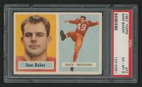 1957 Topps #72 Sam Baker RC (PSA 6) at PristineAuction.com